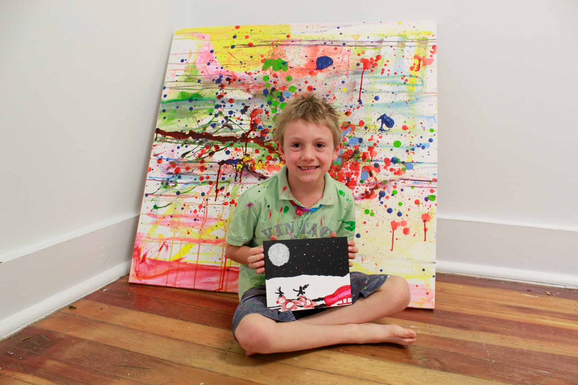 Artist lets true colours shine at first exhibition