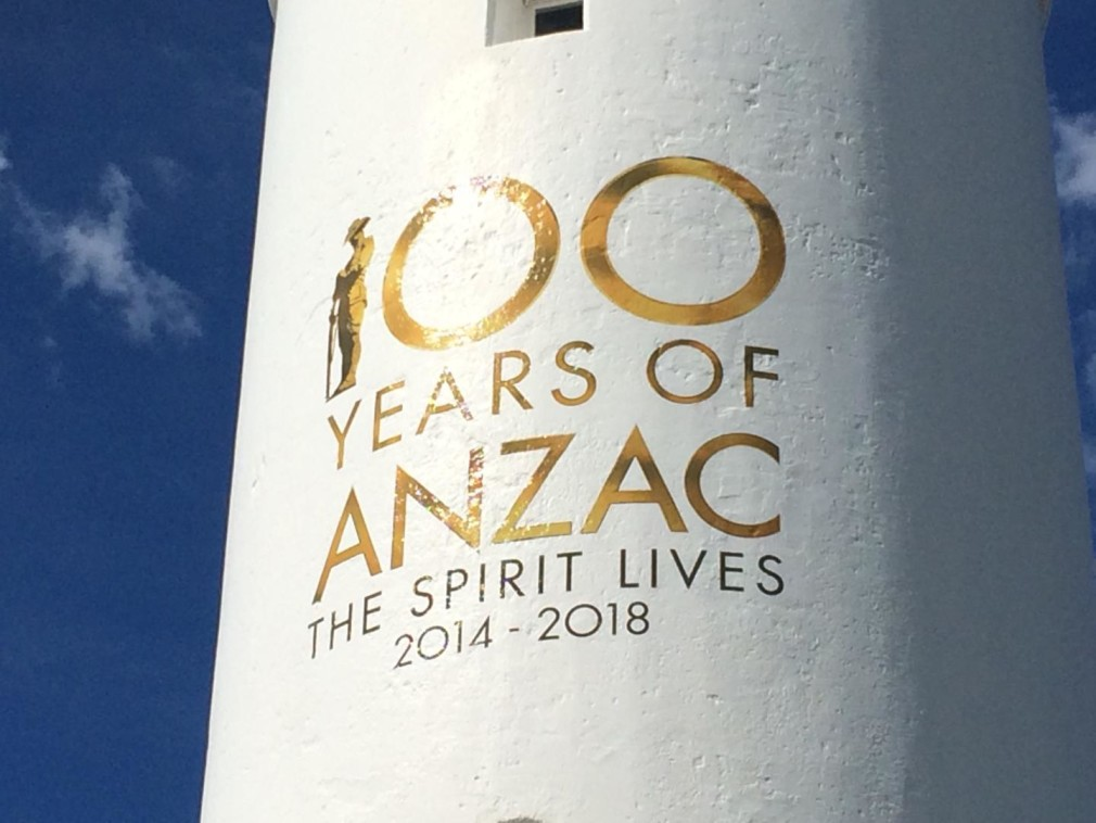 ANZAC tribute unveiled on Kiama Lighthouse