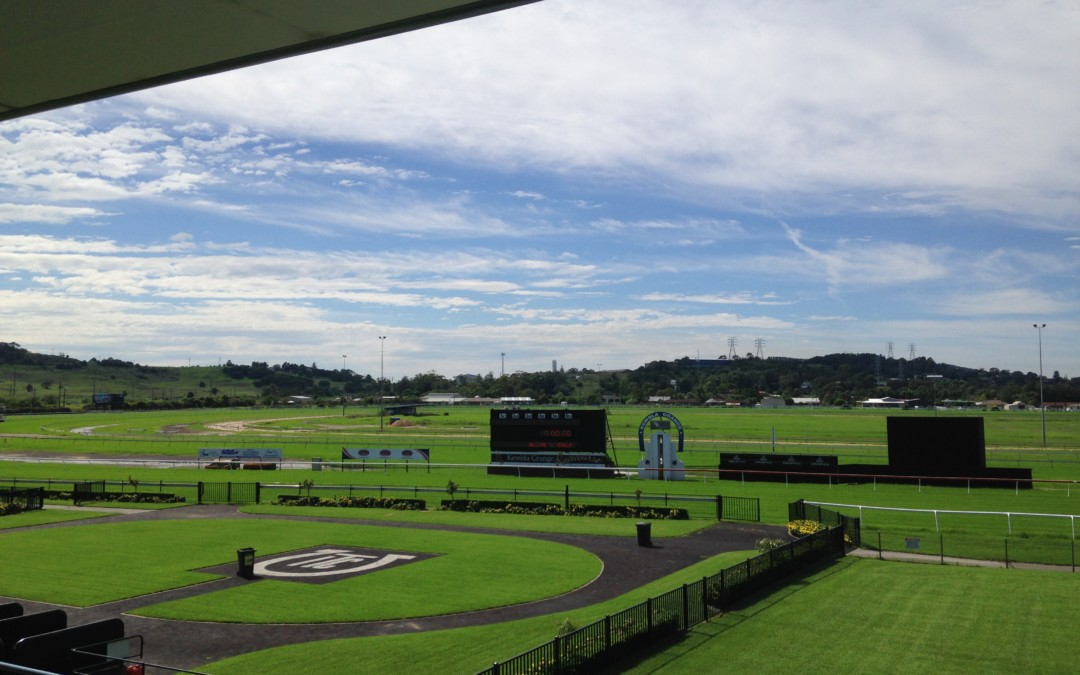 Kembla Grange racegoers pray rain stays away
