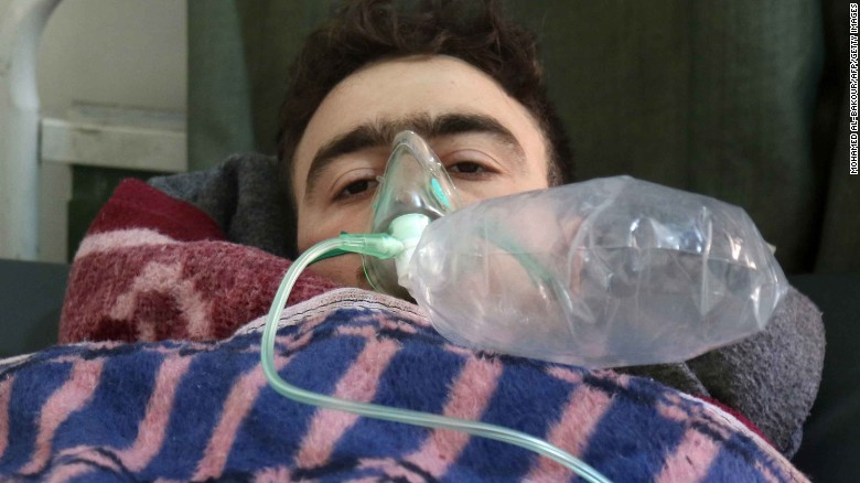 Dozens killed in suspected chemical attack in Syria