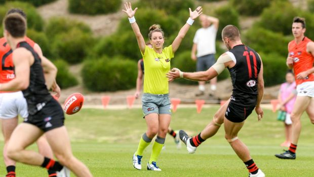 First female AFL central umpire leads way for the regions