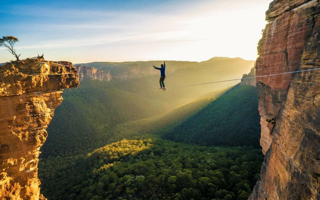 Escarpment becomes home to 'Highlining'