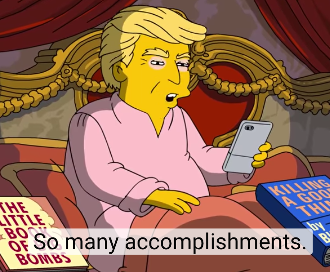 The Simpson's reaction to 100 days of President Donald Trump