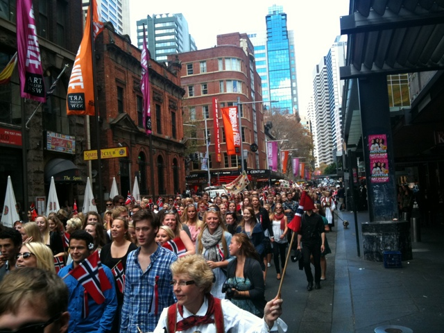 Norwegians bring national celebrations to the Gong
