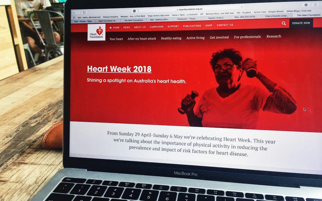 Raising the heart-rate, awareness for Heart Week