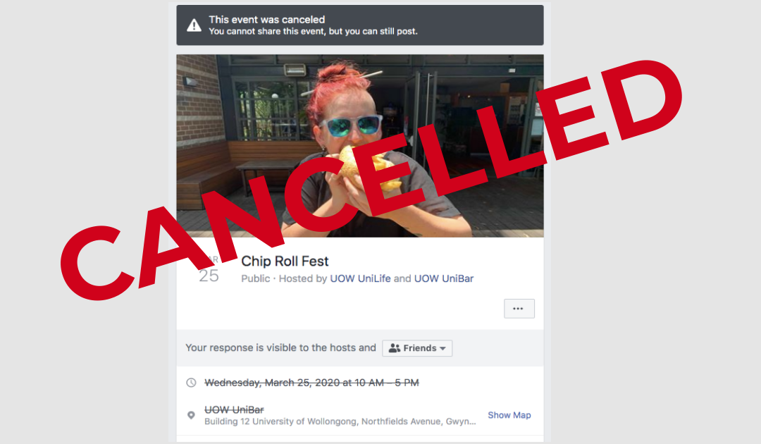 UOW Chip Roll Fest 2020 cancelled