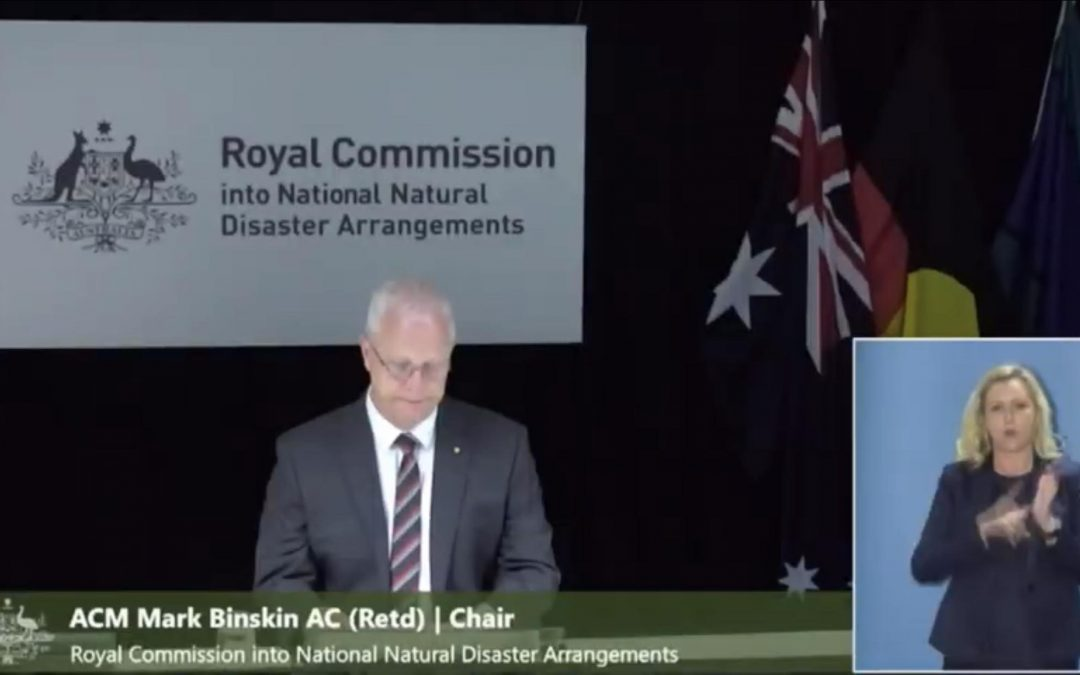 What's happening with the bushfire royal commission?