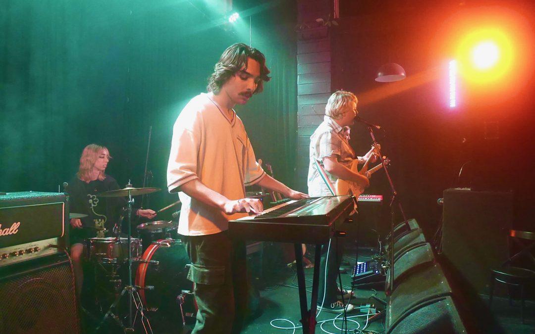 Upcoming Wollongong band, 'Aspbury' performing at live music bar La La La's